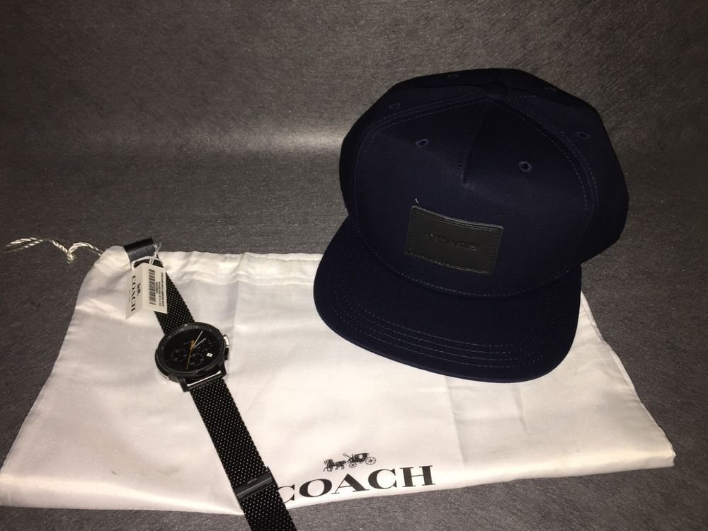 30bc9136004 coach f33774 flat brim hat BRAND NEW W  FACTORY BAG  fashion  clothing   shoes  accessories  mensaccessories  hats (ebay link)