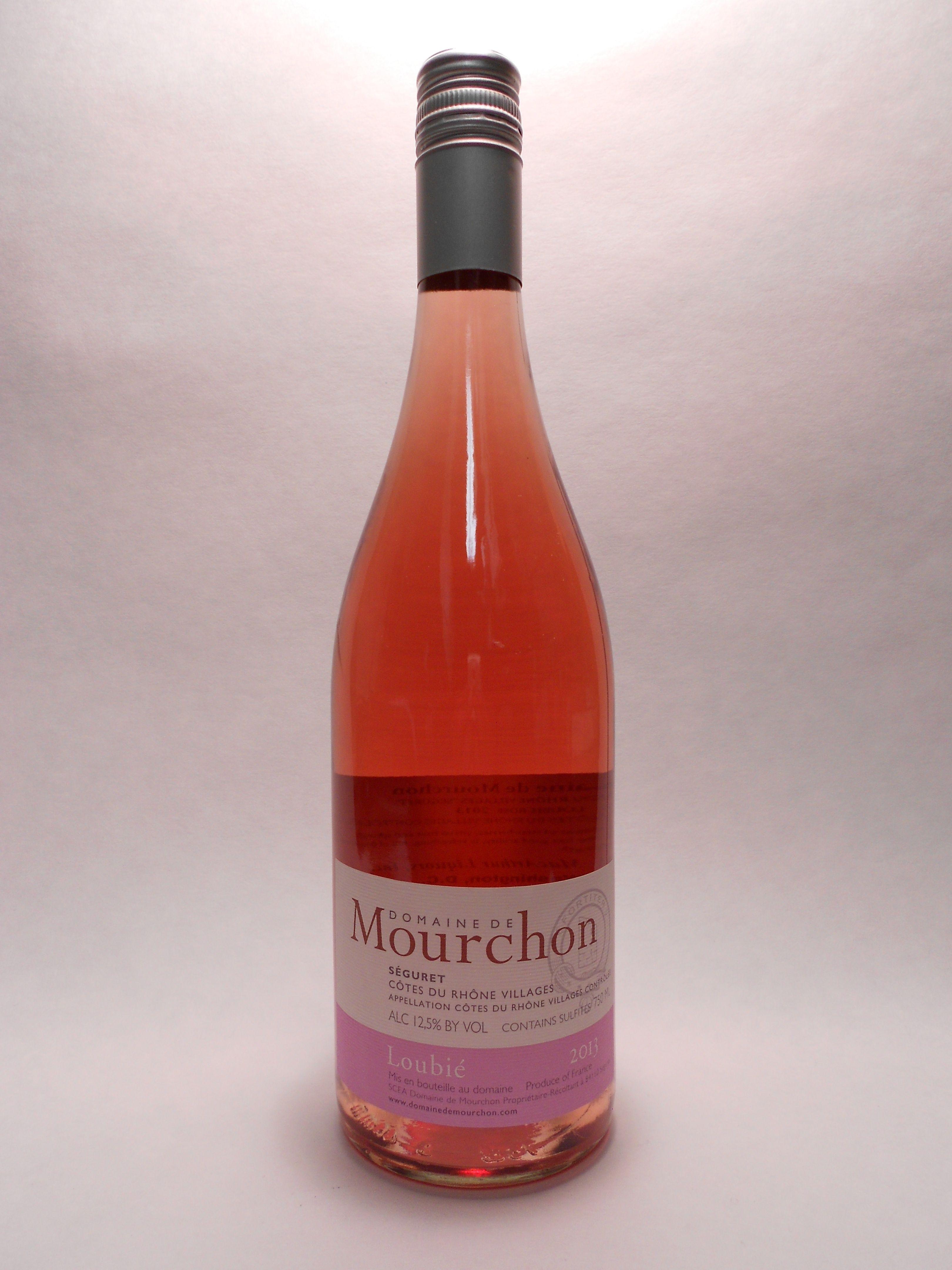 2013 Domaine De Mourchon Cotes Du Rhone Seguret Loubie Rose Sku 60801 Www Bassins Com Phone 202 338 1433 Vino Rosado Vinos