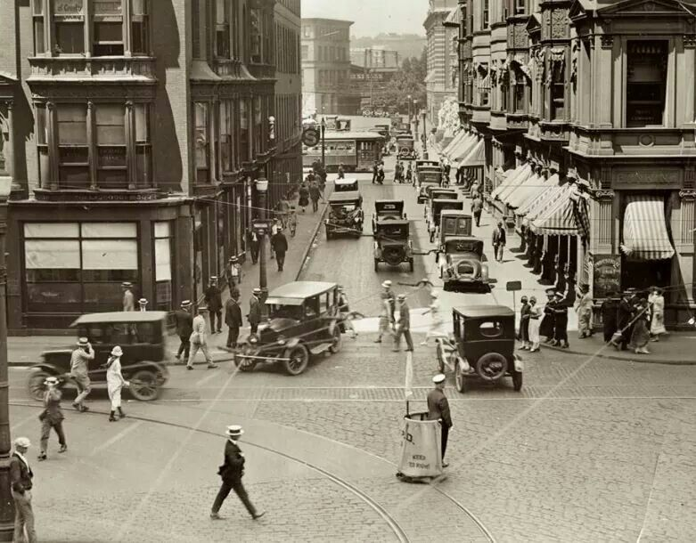 Exchange place downtown providence 1930s rhode island
