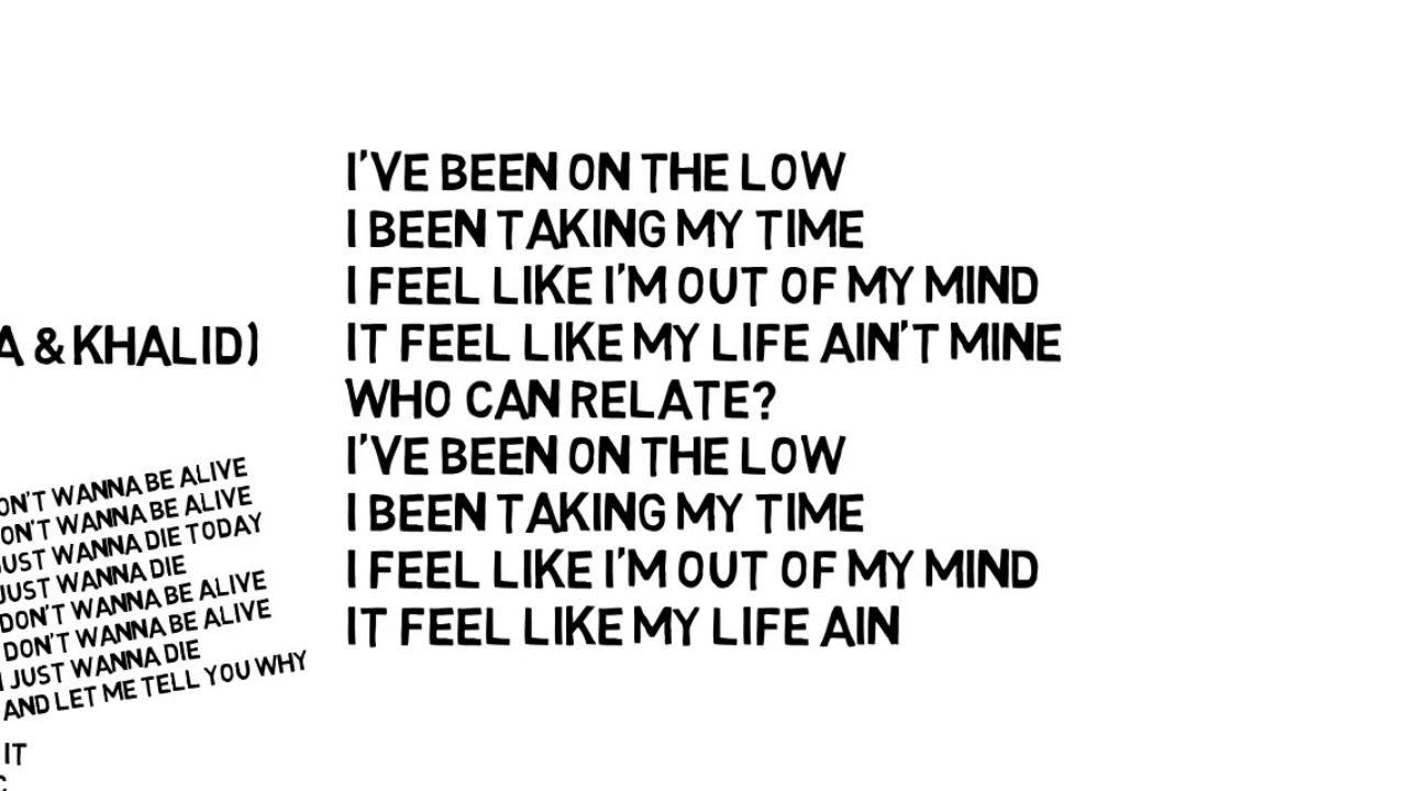 Logic 1 800 273 8255 Ft Alessia Cara Khalid Lyric Video Best Song Lyrics Aesthetic Logic Lyrics Khalid Lyrics