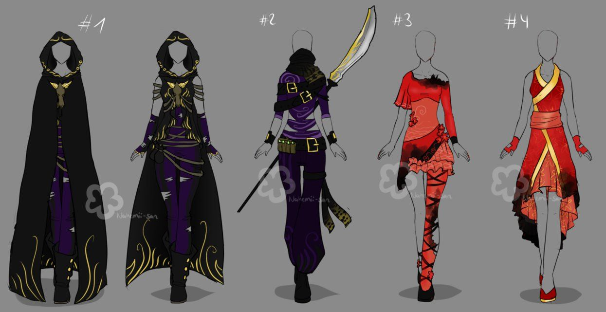 Top 40 Character Design Tips : Custom outfits by nahemii san on deviantart anime