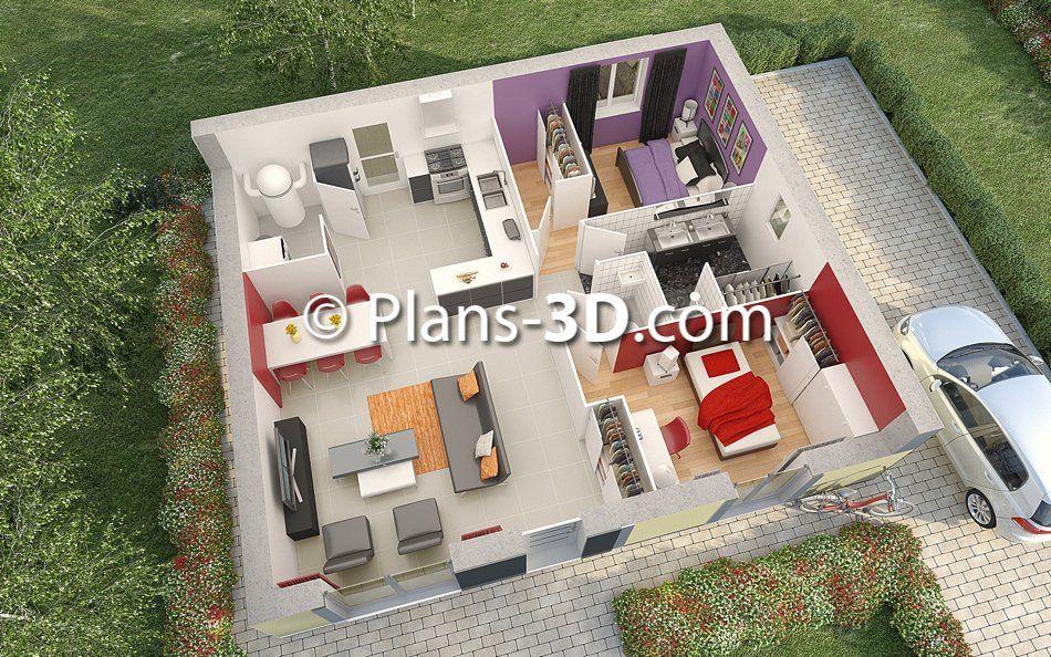 plan maison moderne 3d - Recherche Google Idées pour la maison - plan de maison moderne 3d