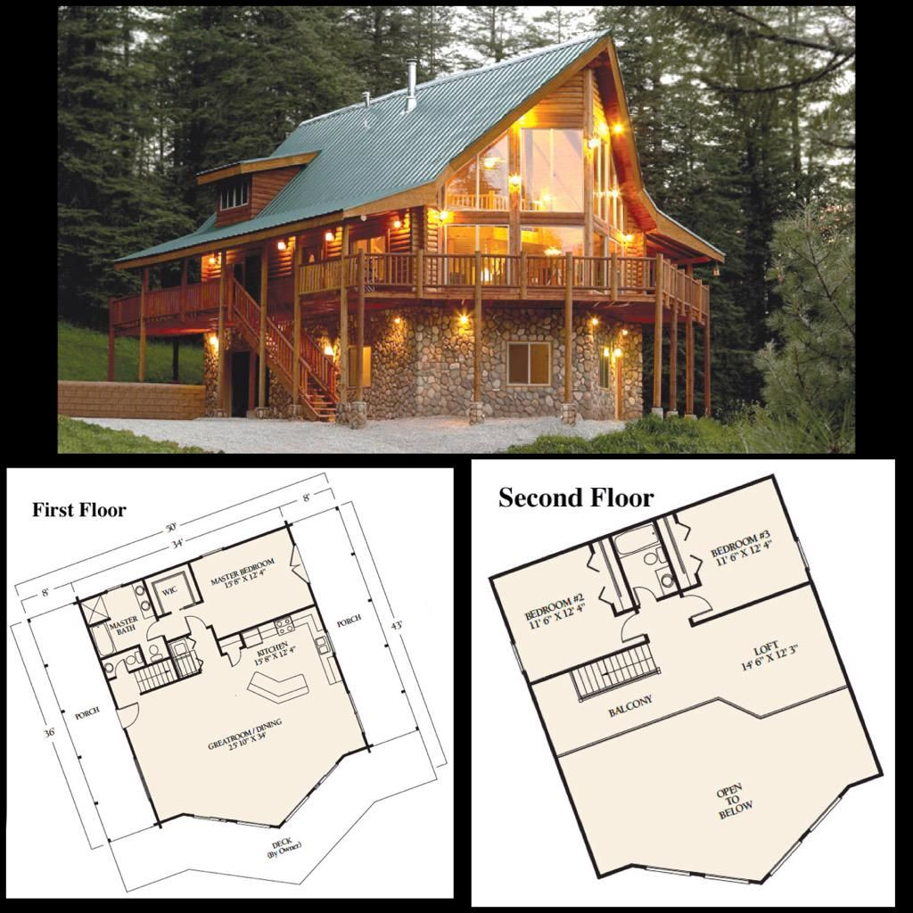 Floorplanfriday Our Alpine Ridge Original Log Cabin Home Offers All The Amenities Of Living