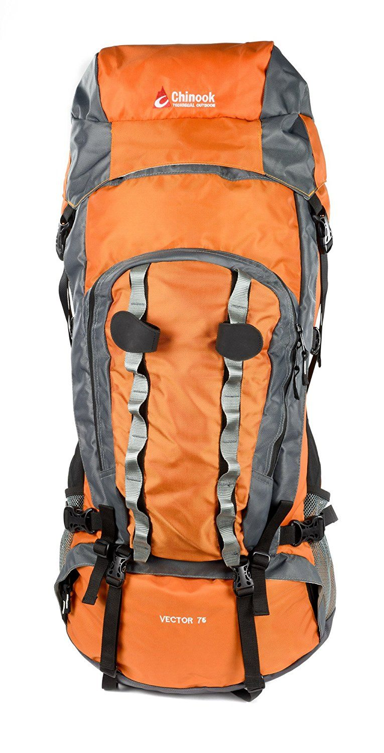 Chinook Vector Internal Frame Expedition Pack Orange 75 Liter