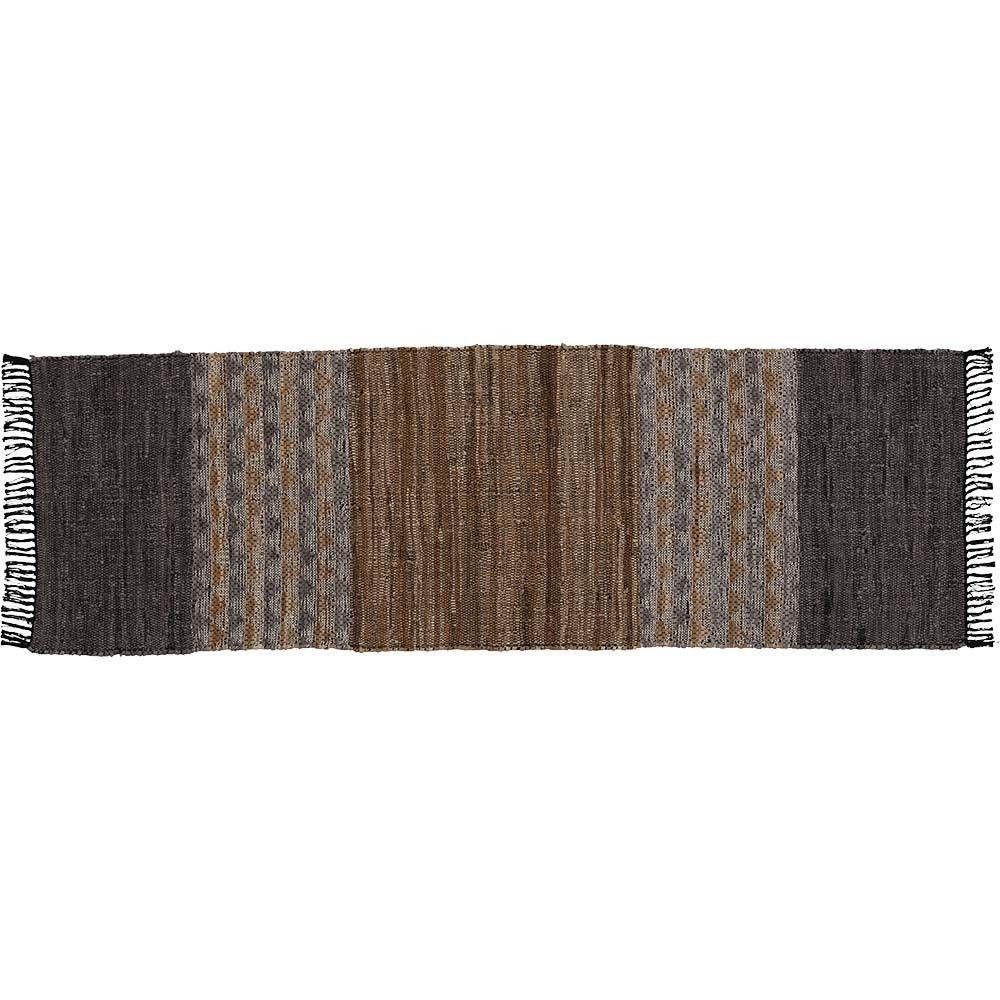 Soldes 2020 Tapis Tisse Seville Cuir Coton Marron Gris Tapis Decoration Textile Linge De Maison Gifi Tapis Tisse Tissu Jacquard Tapis