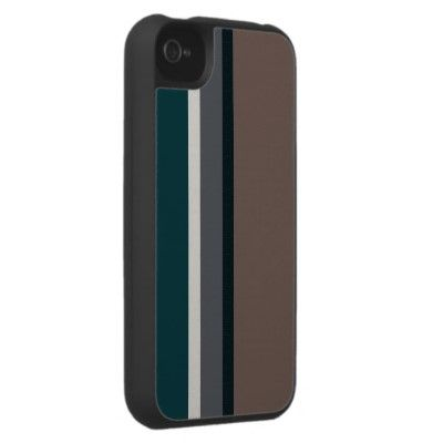 Modern Stripes Brown Grey iPhone 4 Case
