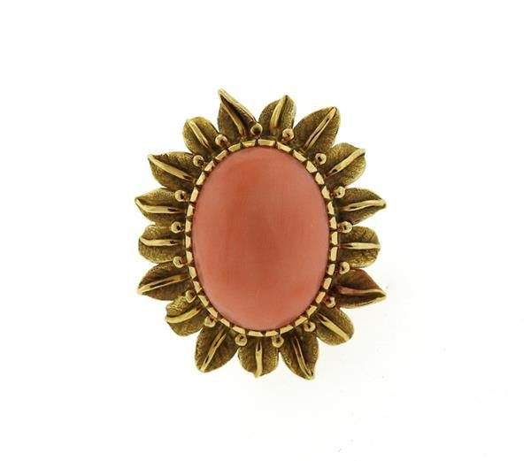 1960s 18k Gold Coral Ring Featured in our upcoming auction on September 13!