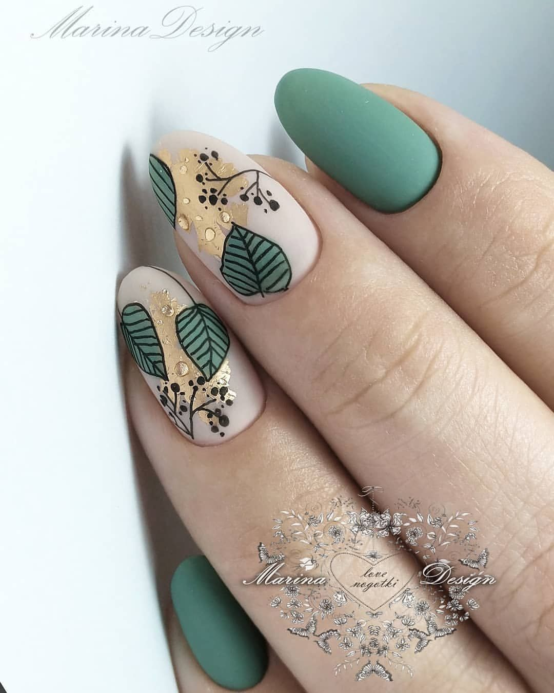 Breathing Green Nails Design For Summer Nails In 2019 Nails Green Nail Designs Matte Nails