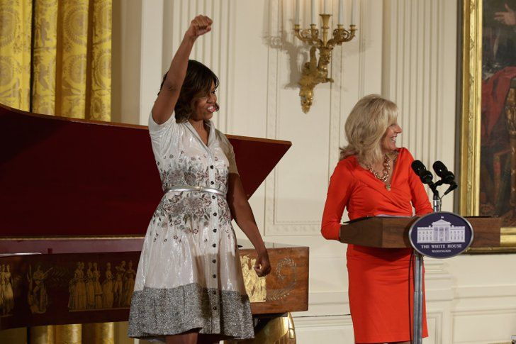 Pin for Later: Around the World With the Week's Best Photos Hands Up First Lady Michelle Obama and Dr. Jill Biden hosted a Mother's Day tea for military mothers at the White House.
