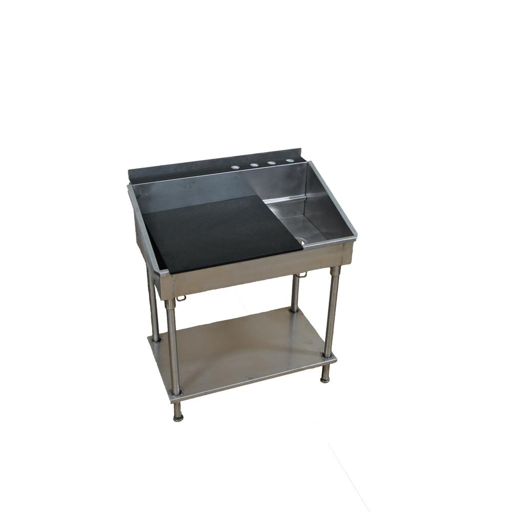 38 In X 21 In X 42 In Stainless Steel Utility Sink With