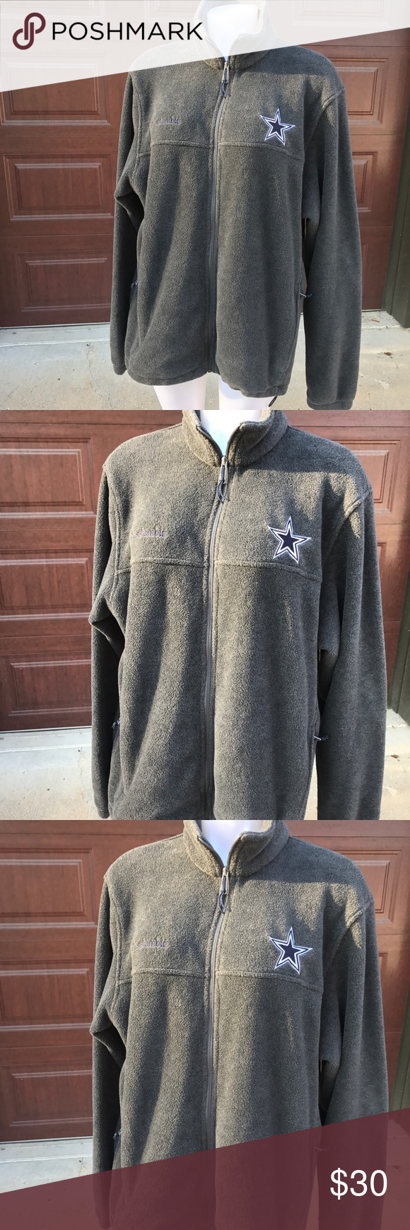 the latest ca2e2 cb17a Columbia Dallas Cowboys Full Zip Jacket Pre-owned with love ...