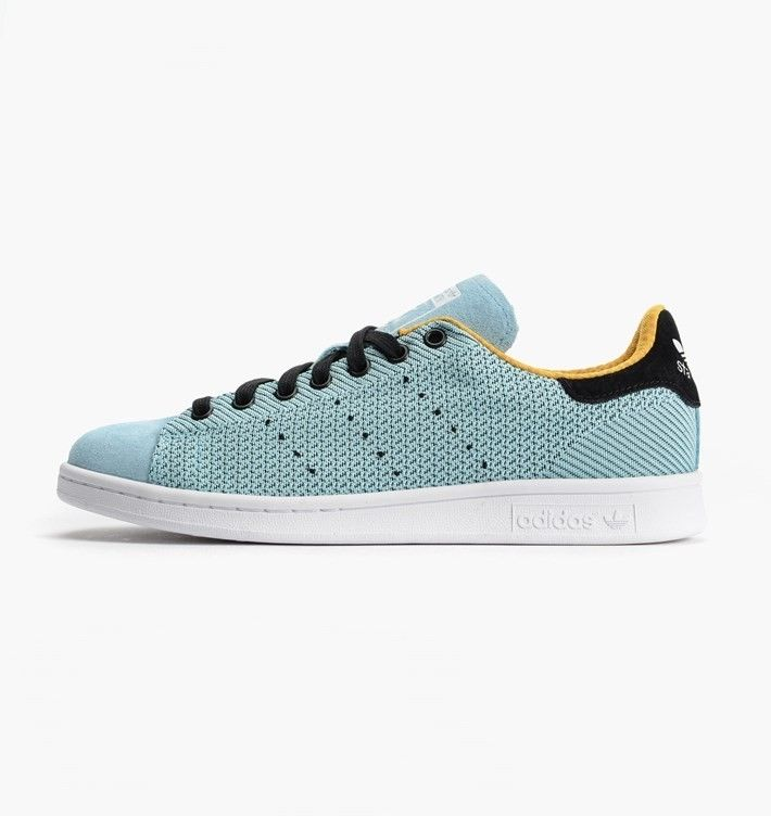 Adidas Originals Stan Smith Shoes For Men Blush Blue/Collegiate Gold/Core  Black M17158