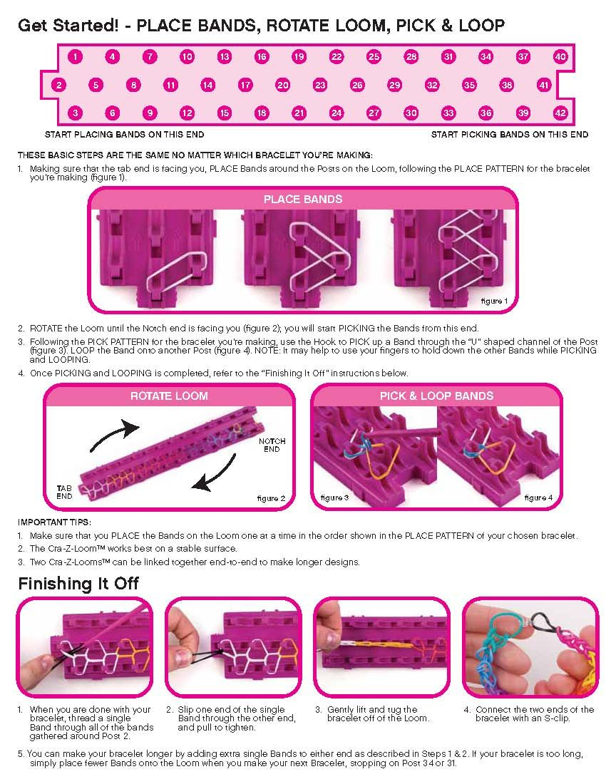 Cra-Z-Loom Instructions - Page 2 Loom Bands Instructions, Wonder Loom,