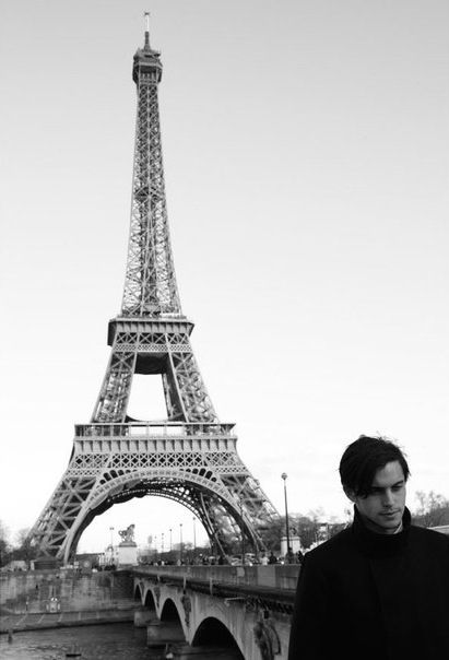 Eiffel Tower, Paris, Dylan Rieder, Skateboarding, Black and White Photography, Skater