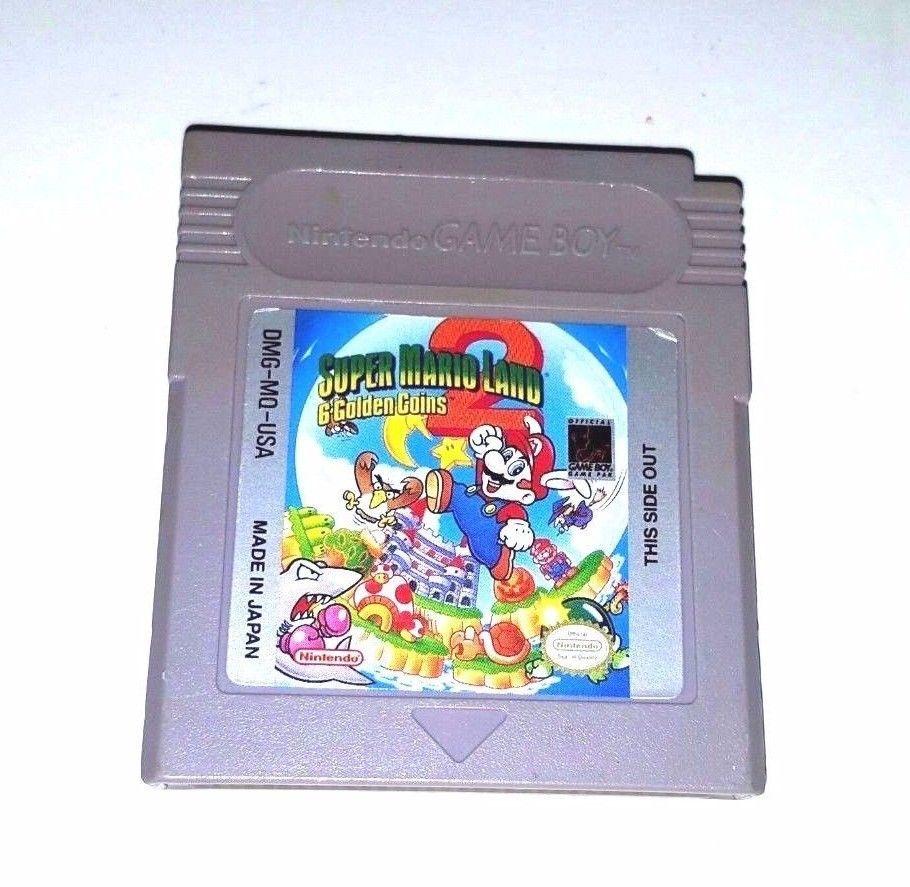 Original Gameboy Game Gb Gbc Gba Sp Super Mario Land 2 Six Golden Coins Original Gameboy Gameboy Games Super Mario Land
