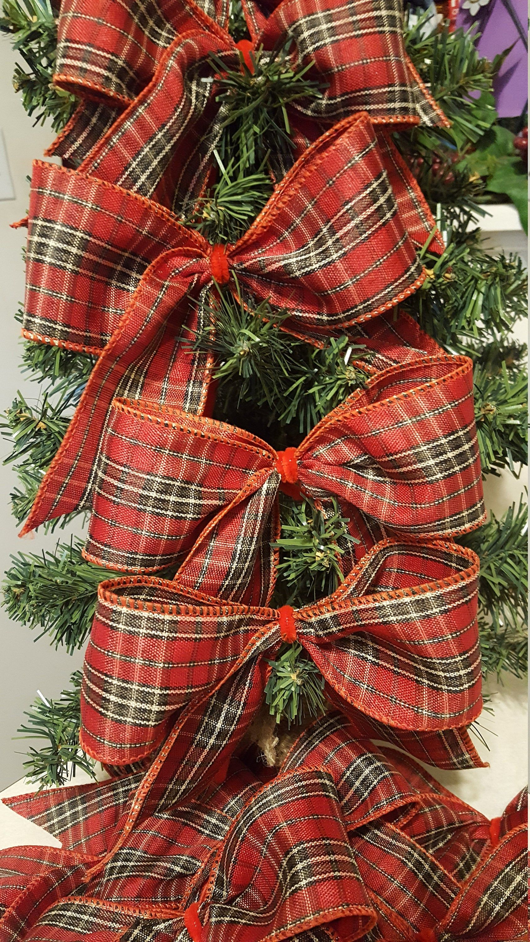 Order Now To Provide Time For Holiday Shipping Www Etsy Com Shop Weedsbyrose Excellent Customer Plaid Christmas Tree Christmas Tree Bows Christmas Tree Themes