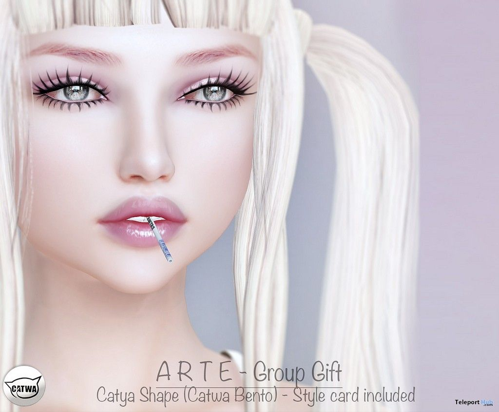 788668d0c Shapes For Catwa Catya Bento Head Group Gift by ARTE Second Life, Bento, I