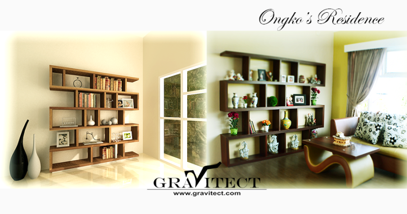 Bookshelf, Custom Furniture, Interior Photography, 3D Rendering, Library