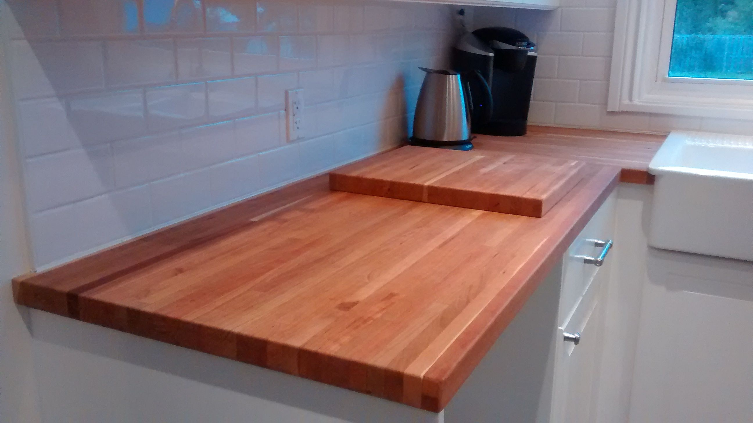 The American Cherry Butcher Block Counters Add Incredible Warmth And Character To The Space Butcher Block Counter Butcher Block Ikea Kitchen