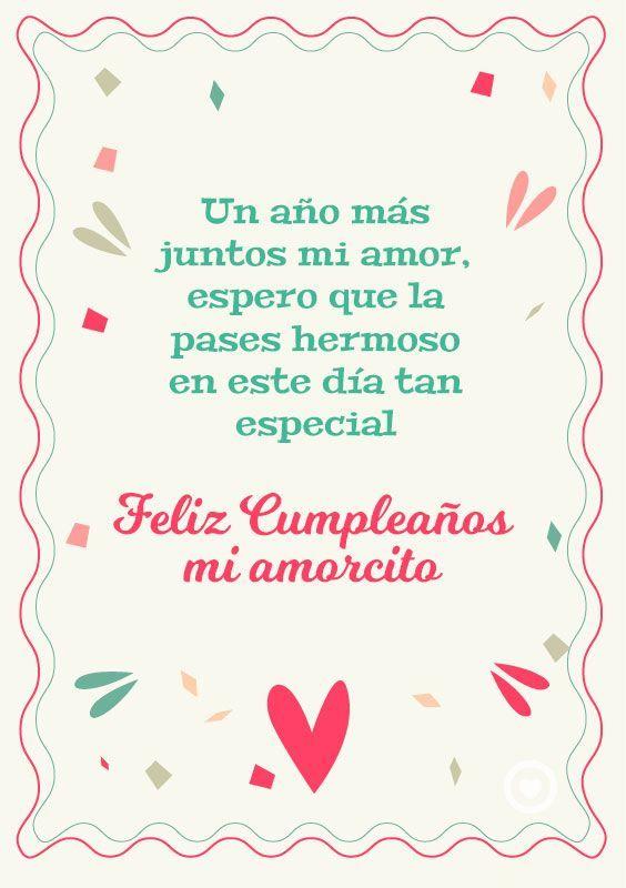 Feliz Cumpleanos Mi Amor Imagenes Y Frases Imagenes Para Whatsapp Happy Birthday Messages Birthday Wishes Messages Happy Birthday Wallpaper