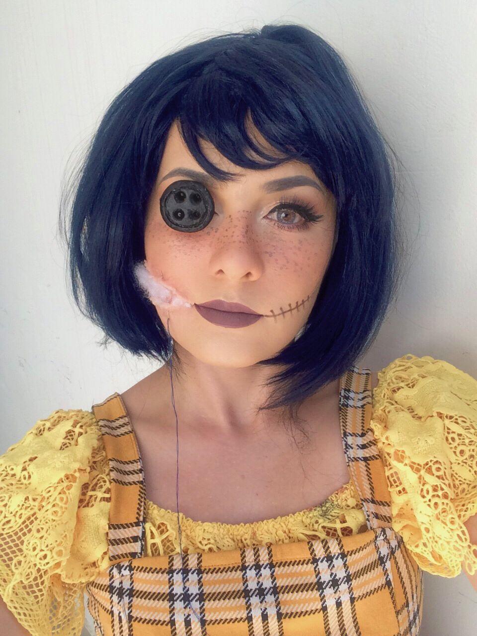 Coraline inspired makeup