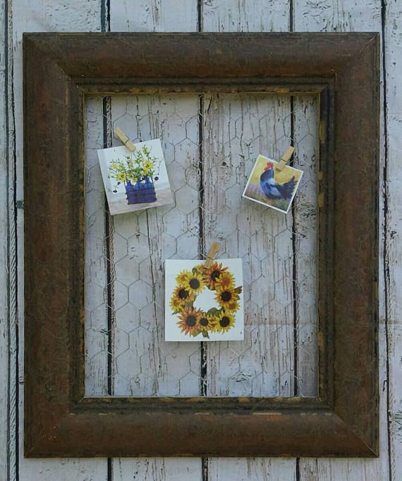 Contemporary Chicken Wire Bulletin Board Vignette - Everything You ...