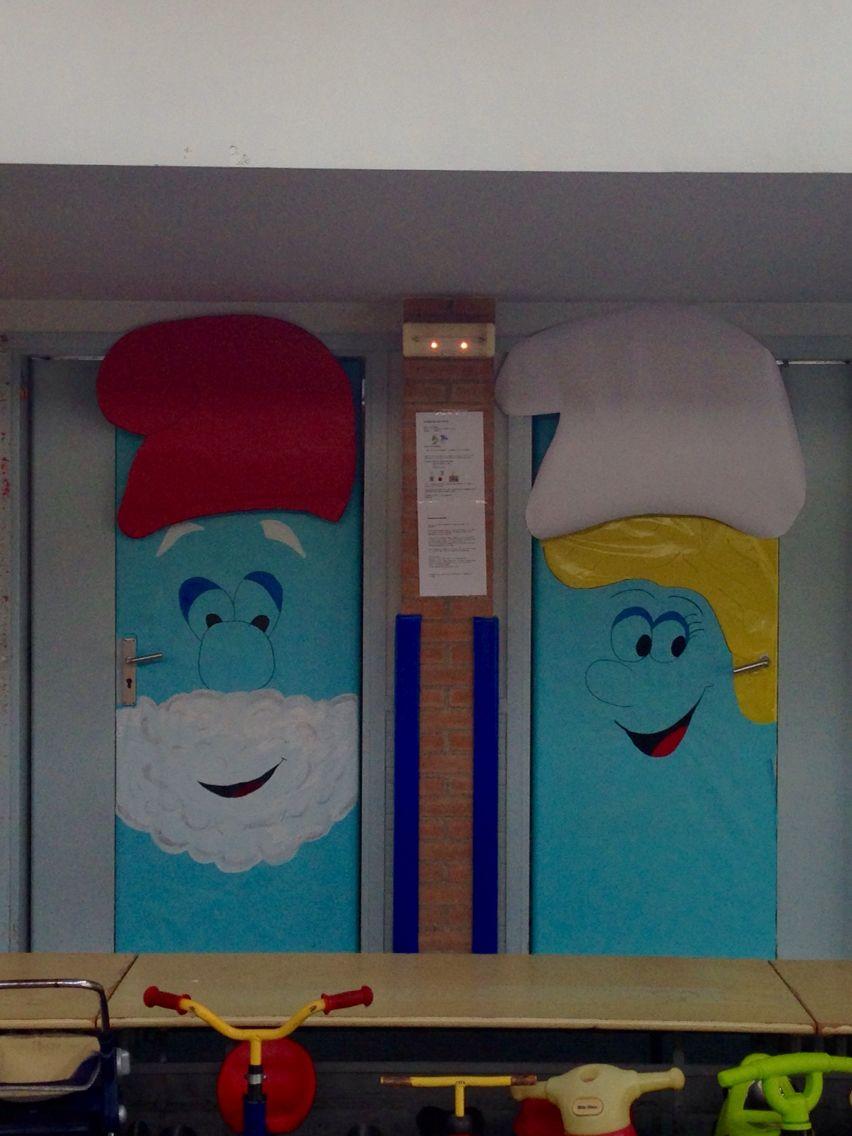 Pitufos decoracion de puertas escolares for Decoracion de puertas escolares
