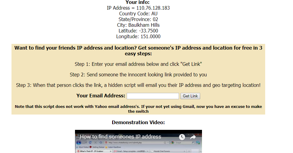 How to get someones IP address and trace Location #hacking #sec