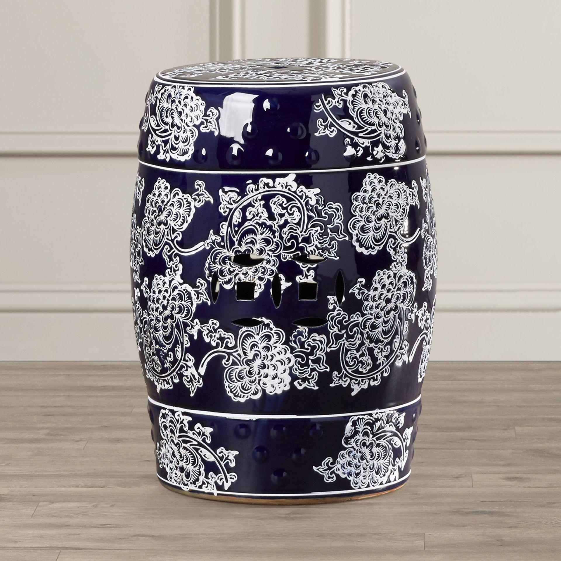 Morgan Ceramic Garden Stool Ceramic Garden Stools Stool Home Decor