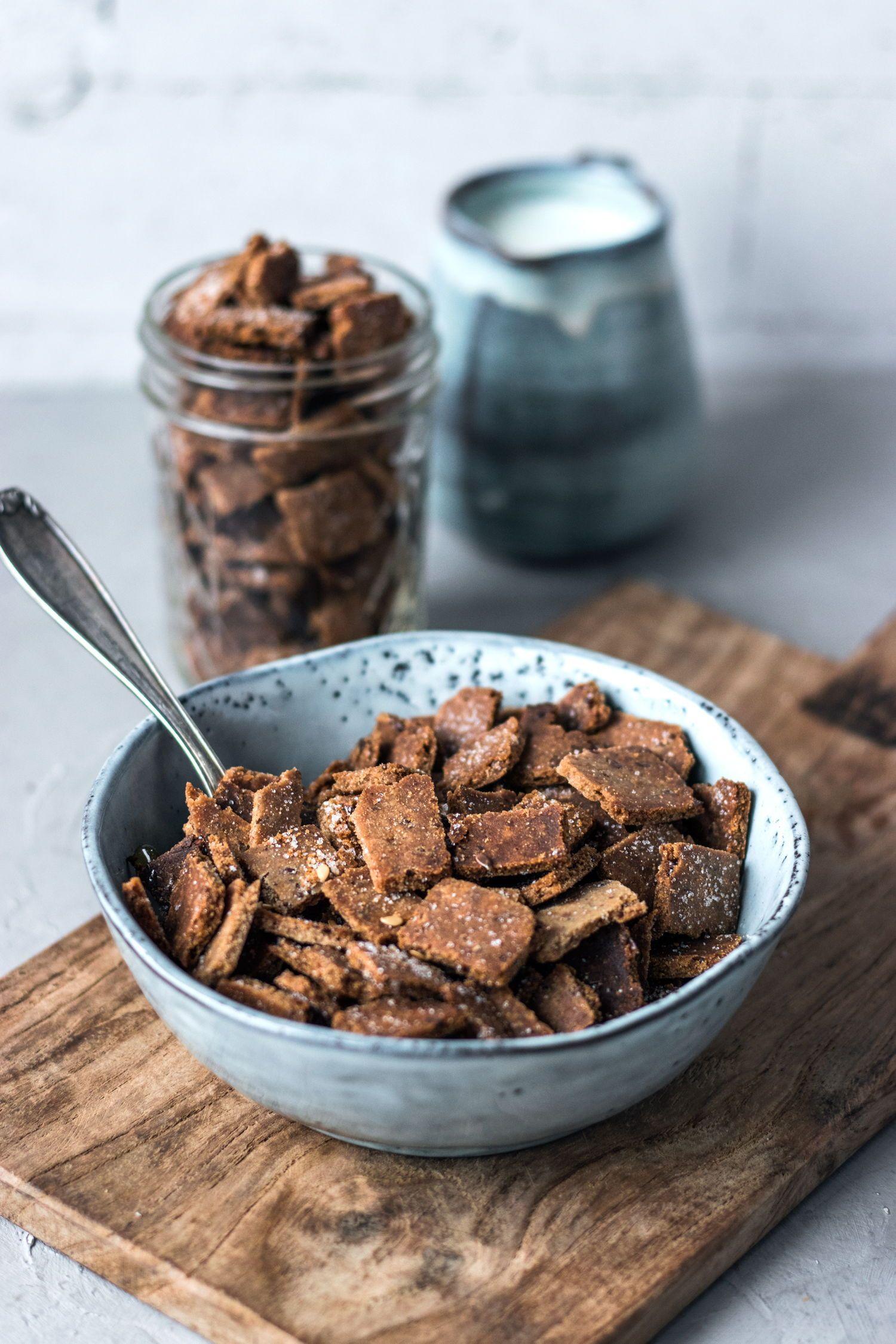 Knusprige Frühstückscracker mit Zimt (glutenfrei & vegan) #frühstückundbrunch