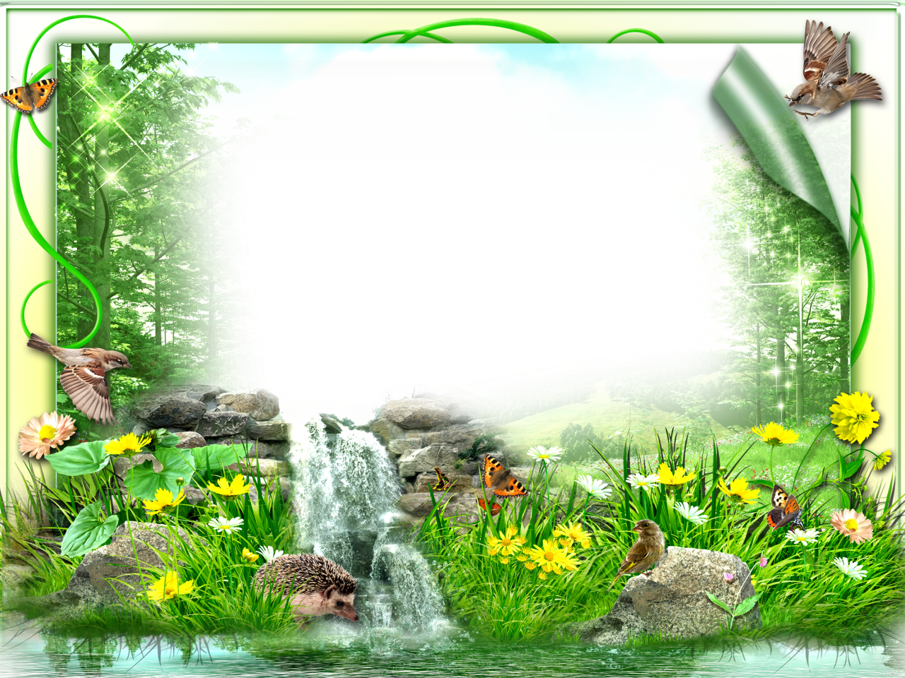 Photo Frame With Beautiful Nature Png 1280 960 Photo Frame Design Free Photo Frames Photo Frame App