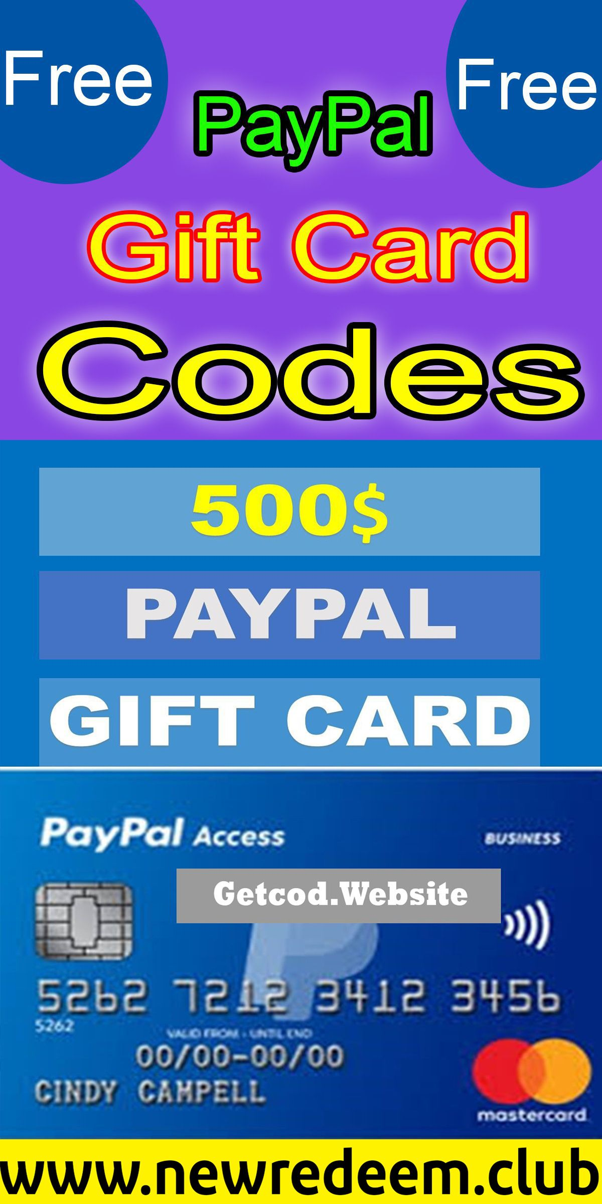 Free 500 paypal gift card in 2020 paypal gift card