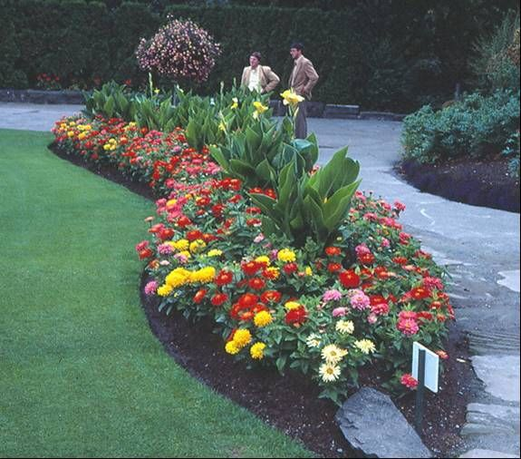 landscaping with greenhouse bedding;