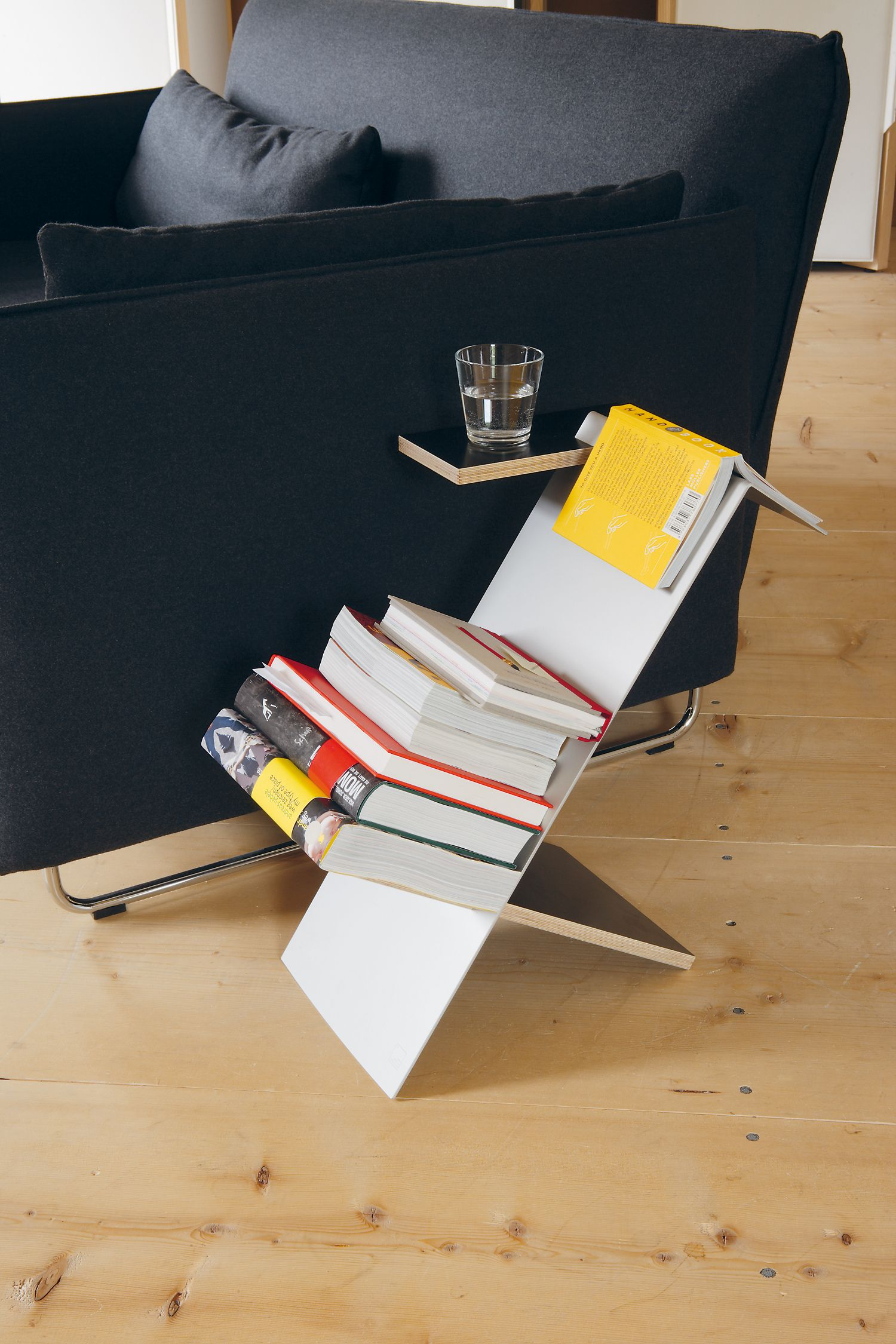 holger moormann the liesmichl book holder allows reading material