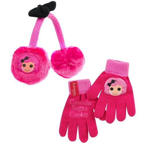 Lalaloopsy Crumbs Sugar Cookie Pink Girls Winter Earmuffs  Gloves Hat  Price : $16.99 http://www.yankeetoybox.com/Lalaloopsy-Crumbs-Cookie-Winter-Earmuffs/dp/B00E8N1810