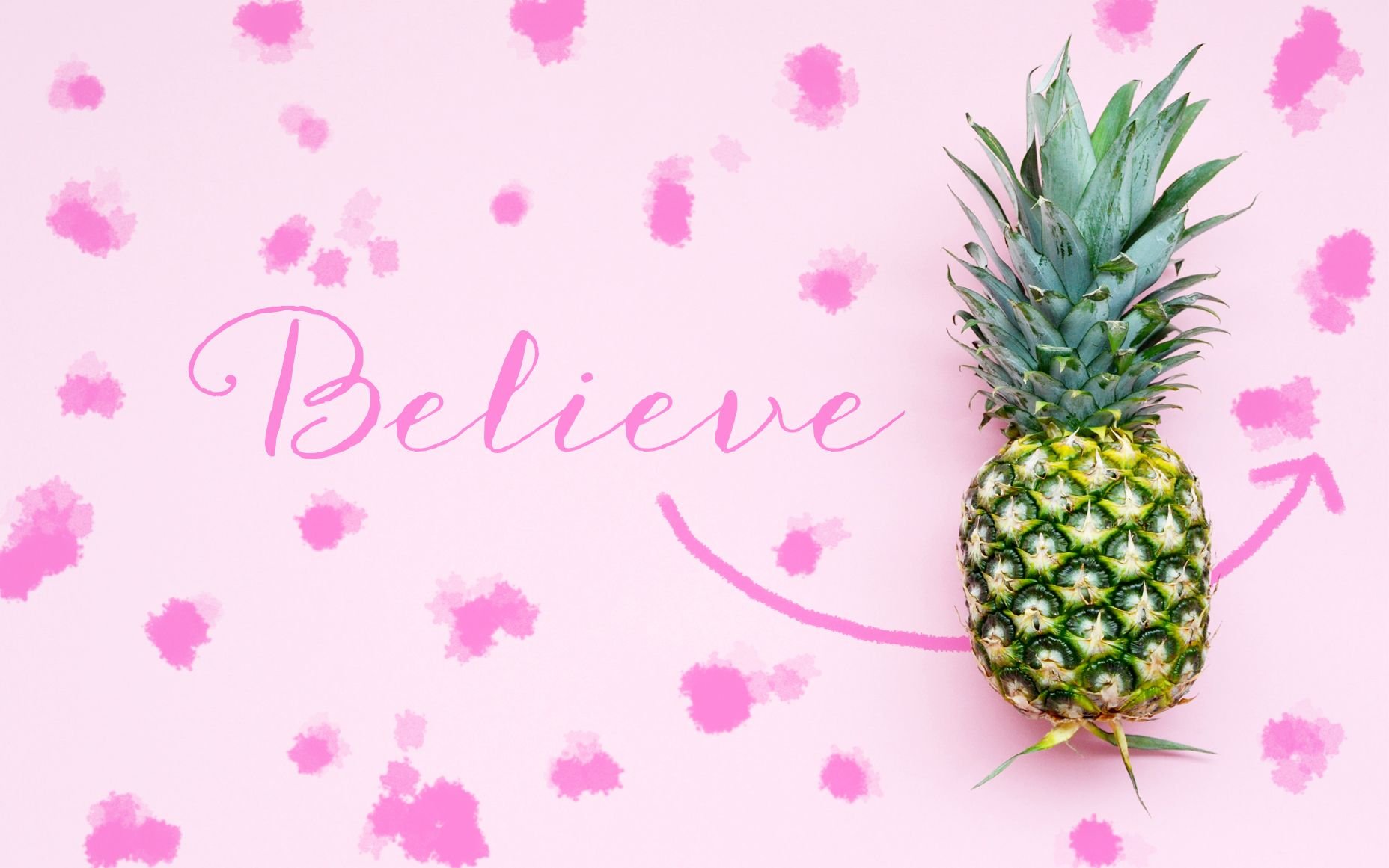 Girly Pineapple Pink Desktop Backgrounds