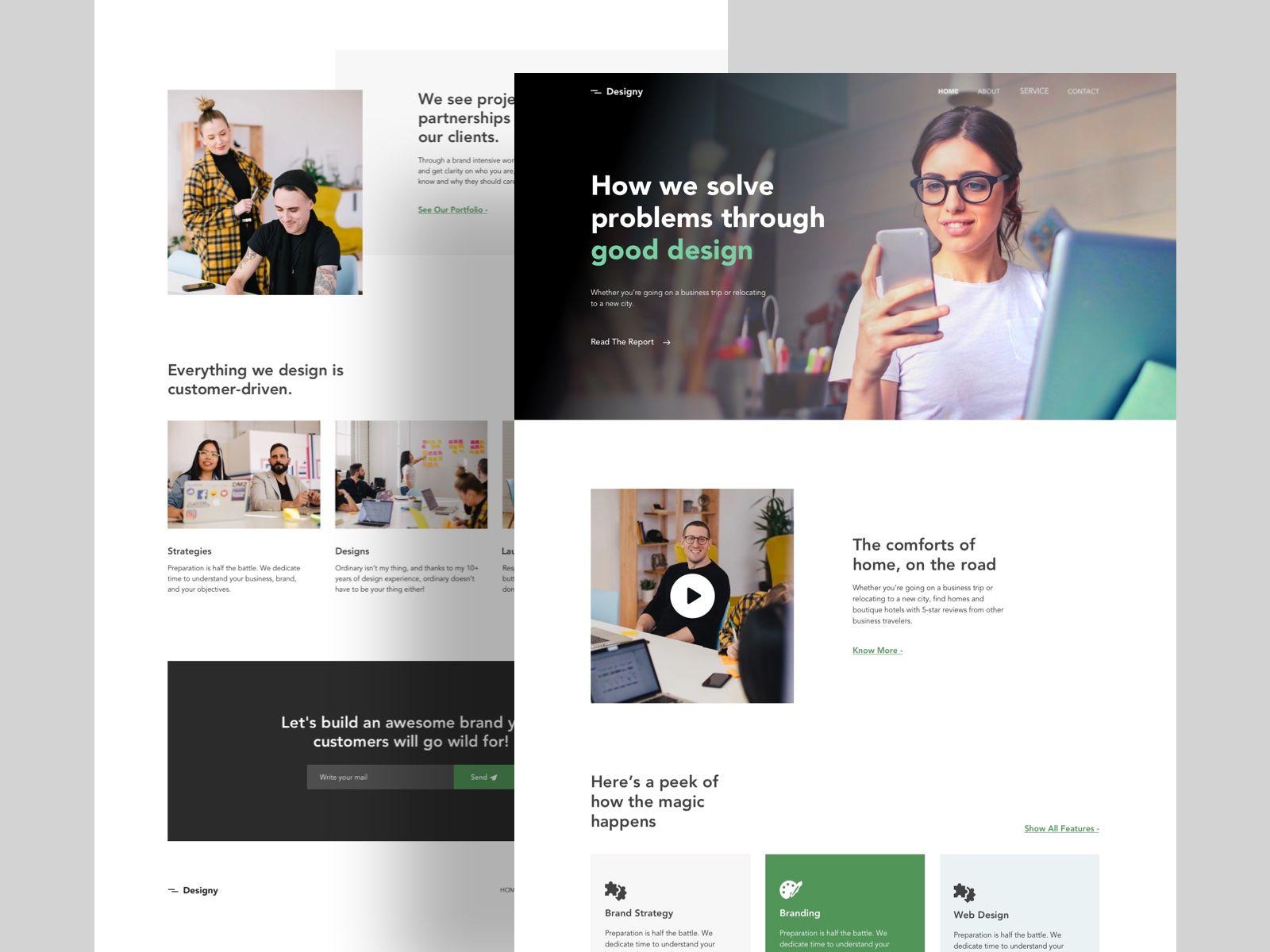 Design Firm Landing Page Exploration Landing Page Design Web Design Inspiration