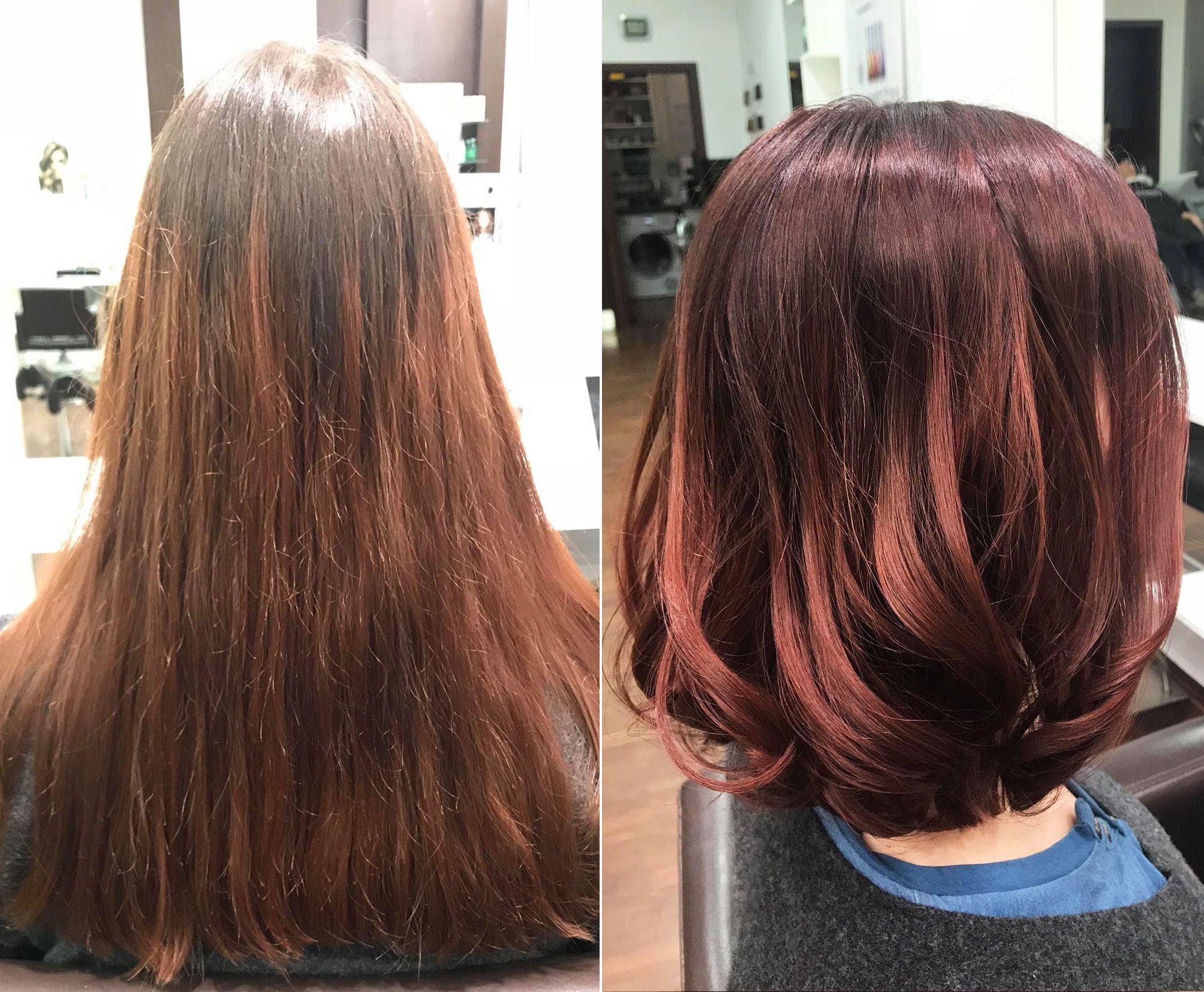 Longbob Haarschnitt Frisuren Vorher Nachher D Machts Lounge