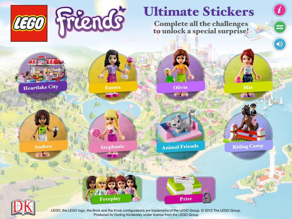 Lego Friends Ultimate Stickers Ipad Lego Friends Lego Stickers