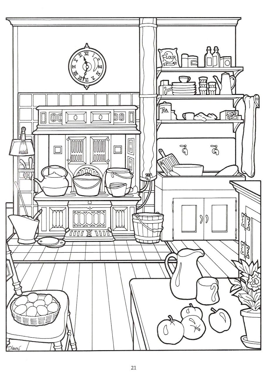 Colouring pages kitchen - The Victorian House Coloring Book Nena Bonecas De Papel Picasa Web Albums