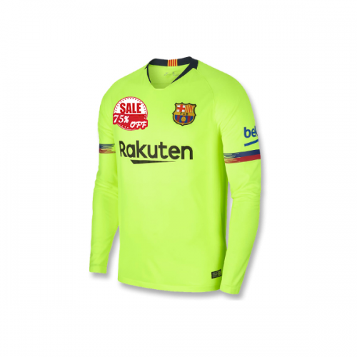 968fff29975 Barcelona LS Away Soccer Jersey Shirt 2018-19 Model  Goal63893 18 19 Messi  Long Sleeve Football Kits on goaljerseyshop.com