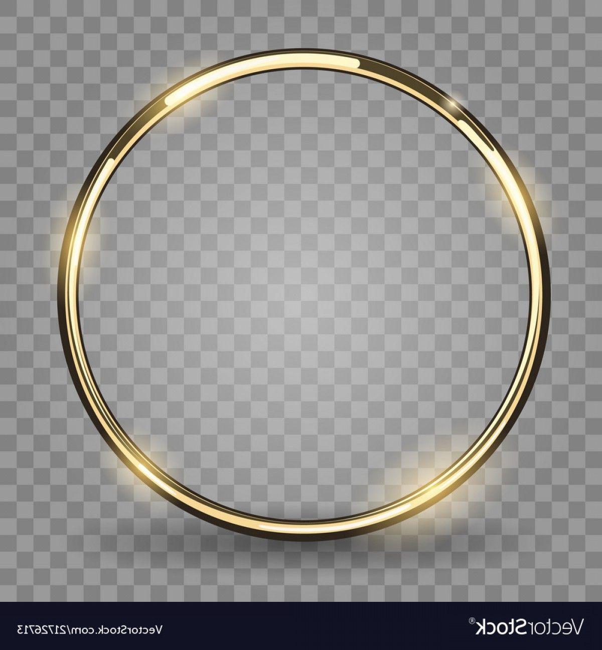 Ring Shine Vector Gold Ring On Transparent Background Vector Circulo De Ouro Papel De Parede De Fundo Branco Molduras Redondas