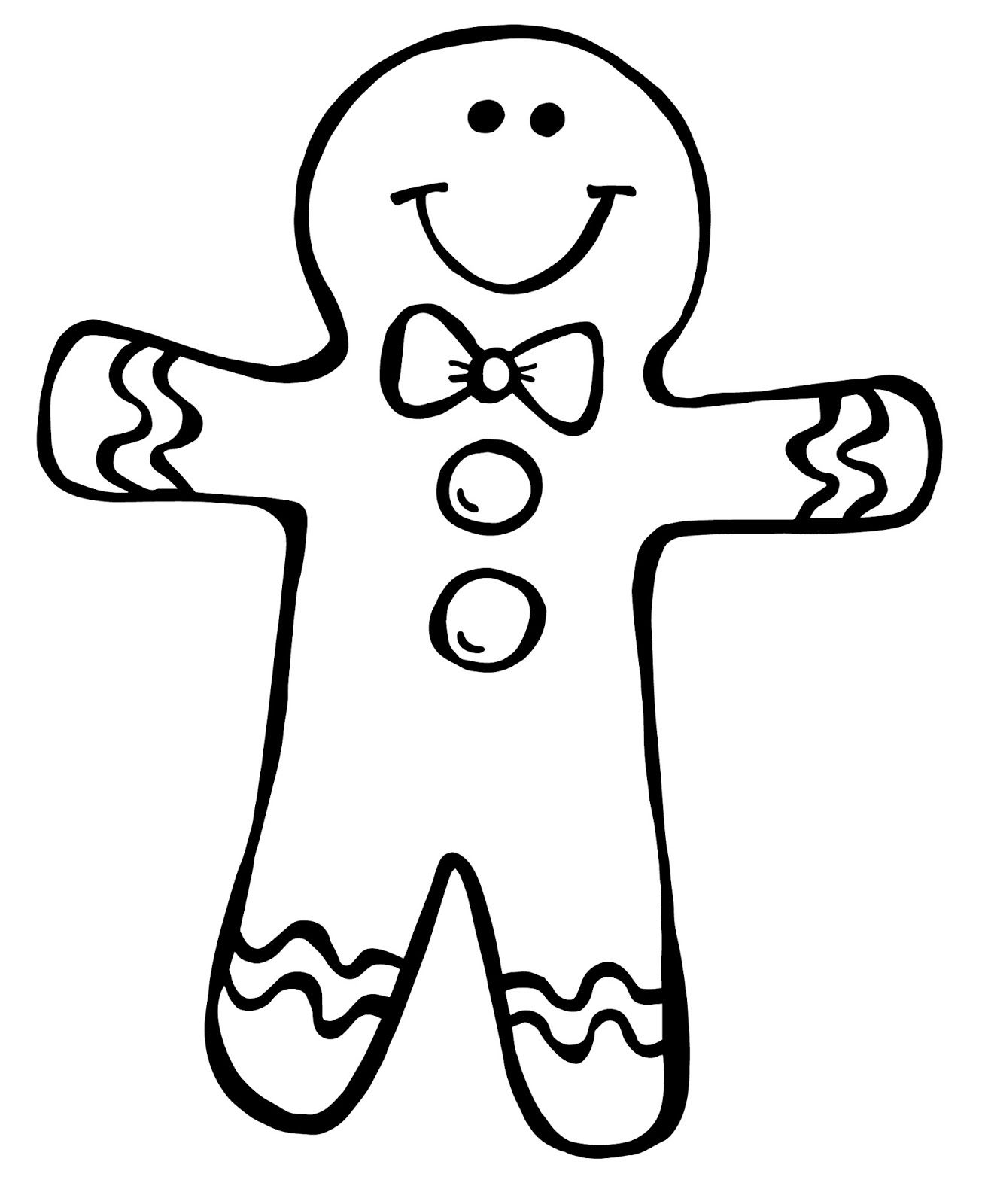 gingerbread girl template printable - Google Search ...