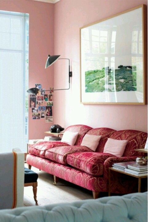 Great sofa and a pink wall! | Home/Inspiration | Pinterest | Pink ...