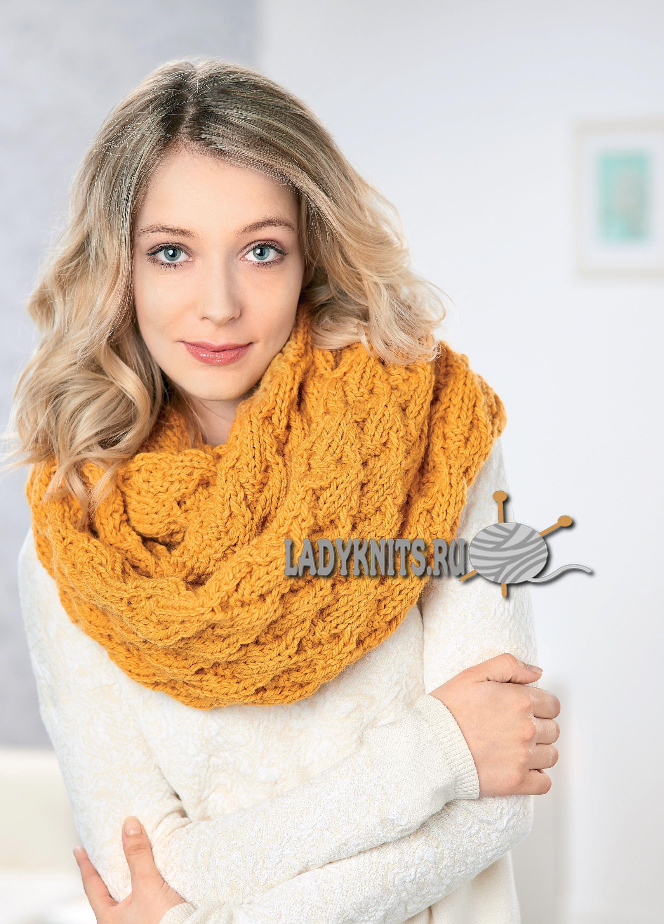 Вязанные шарфы снуды своими руками фото 870