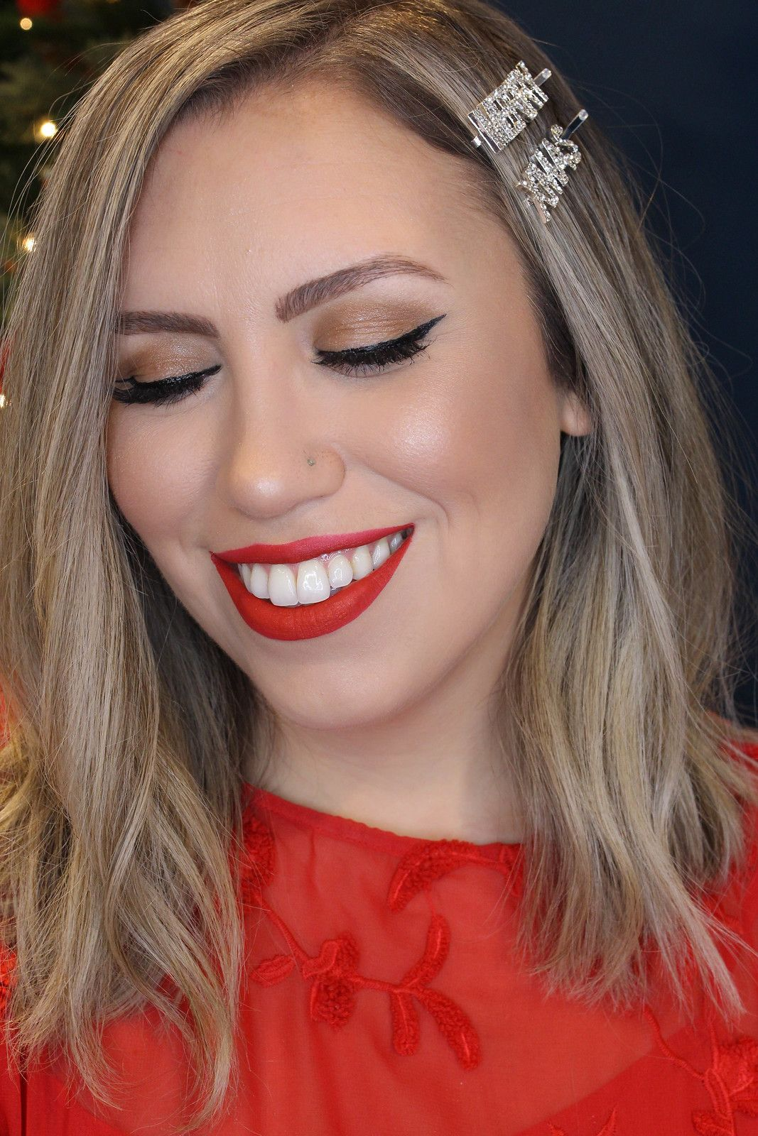 Holiday Makeup Monday Tutorial Matte Red Lips Matte red
