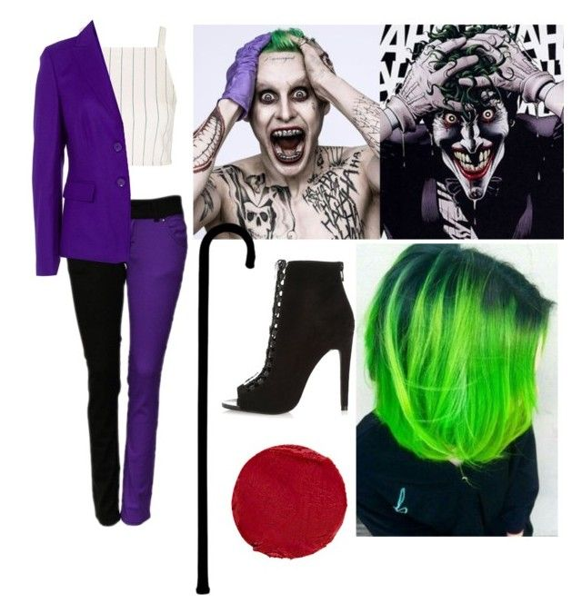 """""""Female Joker"""" by kayshaiscrazy on Polyvore featuring Topshop, Basler, River Island, Temptu and plus size clothing"""