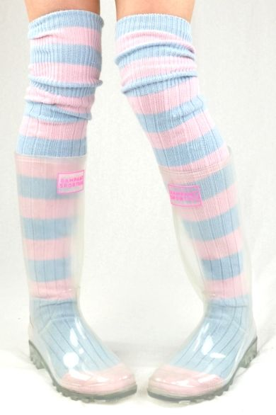 *Transparent Festival Wellies*Sugarmouse Sock +Poncho /> this is something I've never seen...see-thru wellies....lol