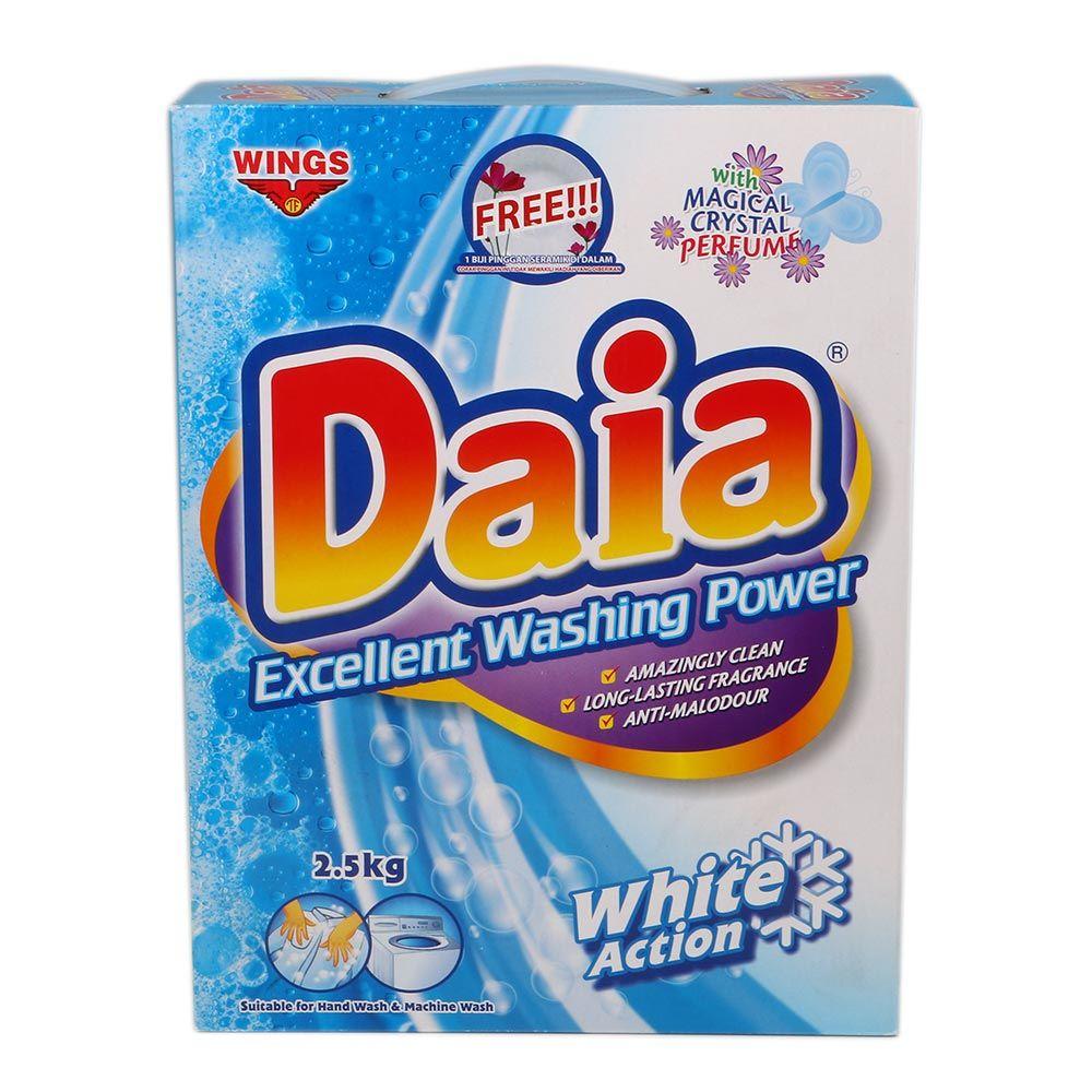 BARANG RUMAH: Daia Powder Detergent White Action 2.5kg SALE 40% ...