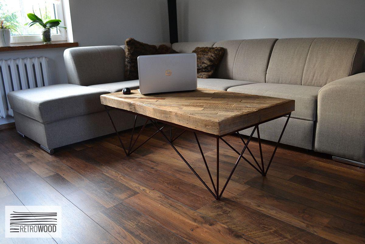 Stolik Kawowy Lawa Stare Drewno Nowoczesny Modern 5696946842 Oficjalne Archiwum Allegro Coffee Table Living Room Style Decor